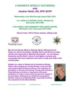 A Women's Weekly Gathering with Heather Wolfe @ 222 Community Wellness Center | Gloucester | Massachusetts | United States