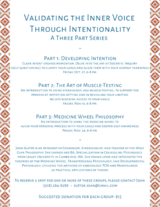 Validating the Inner Voice Through Intentionality (3-Part Series)